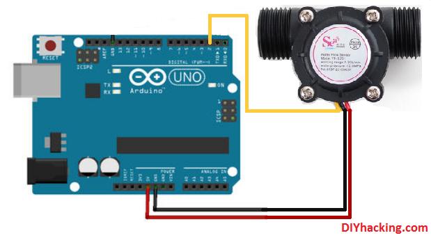 Arduino flow rate sensor tutorial