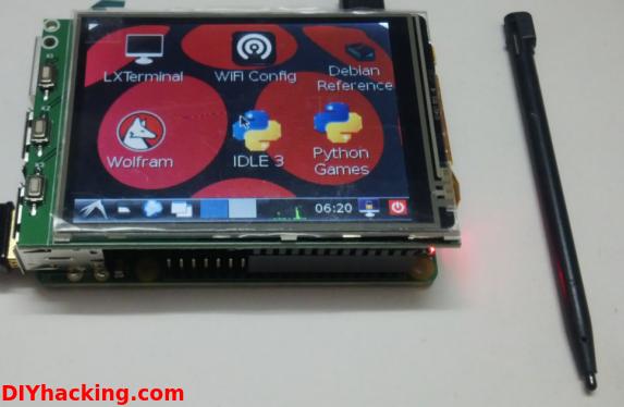 Raspberry Pi touchscreen LCD tutorial DIY Hacking