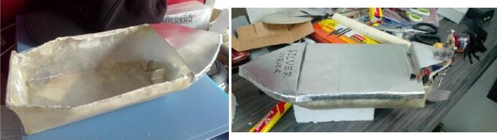 Fibrecloth model boat