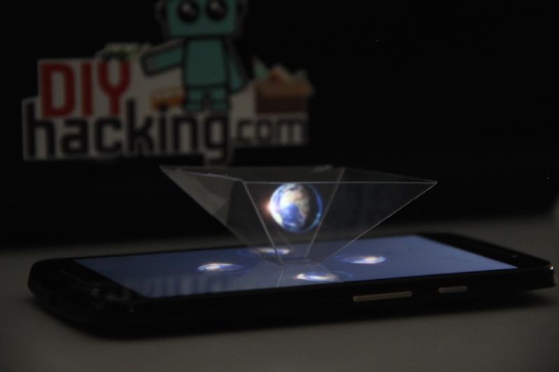 Diy 3d Hologram Pyramid Using Your Smartphone Diy Hacking