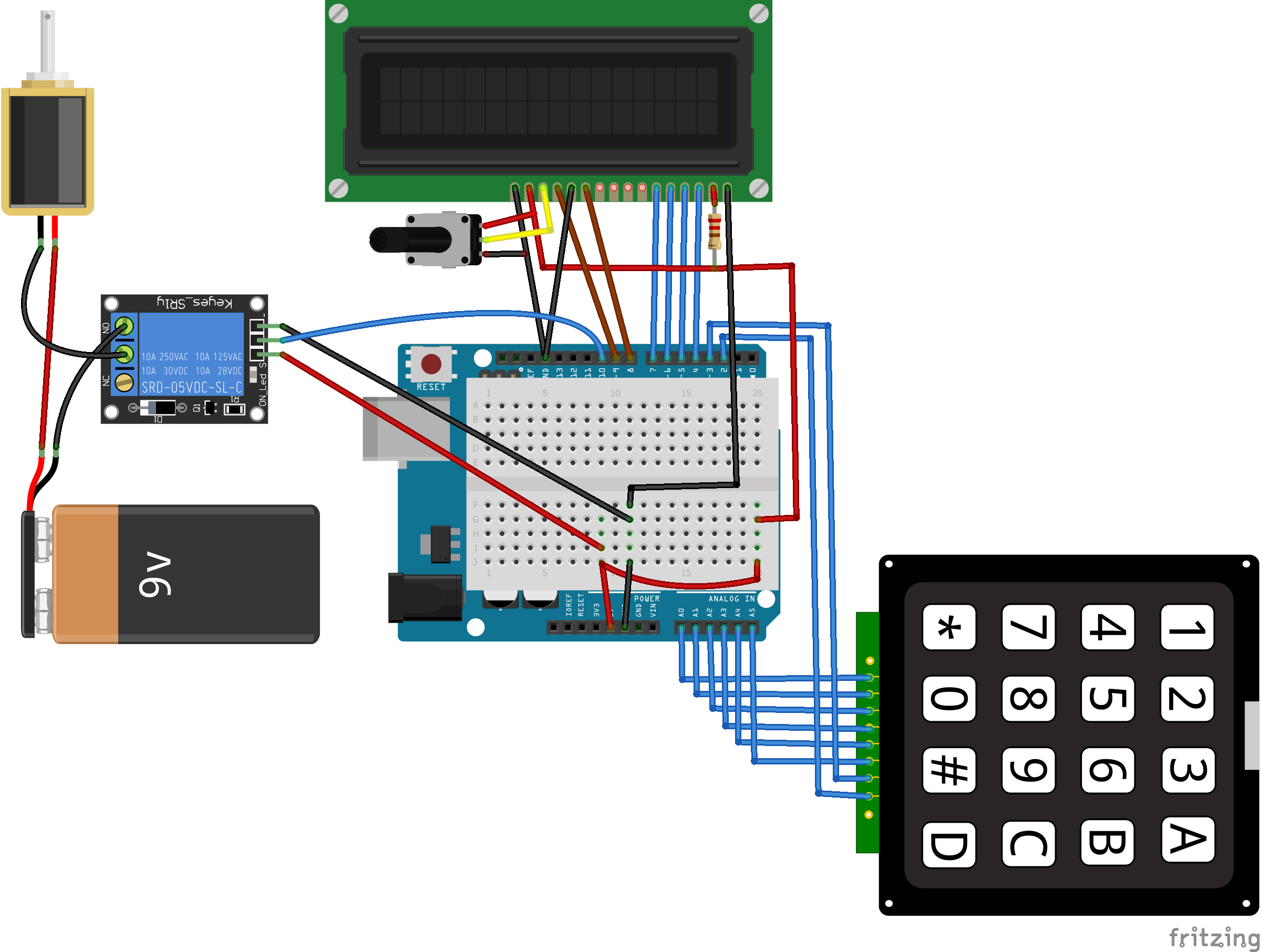 arduino keyless door lock system with keypad and lcd diy hacking. Black Bedroom Furniture Sets. Home Design Ideas