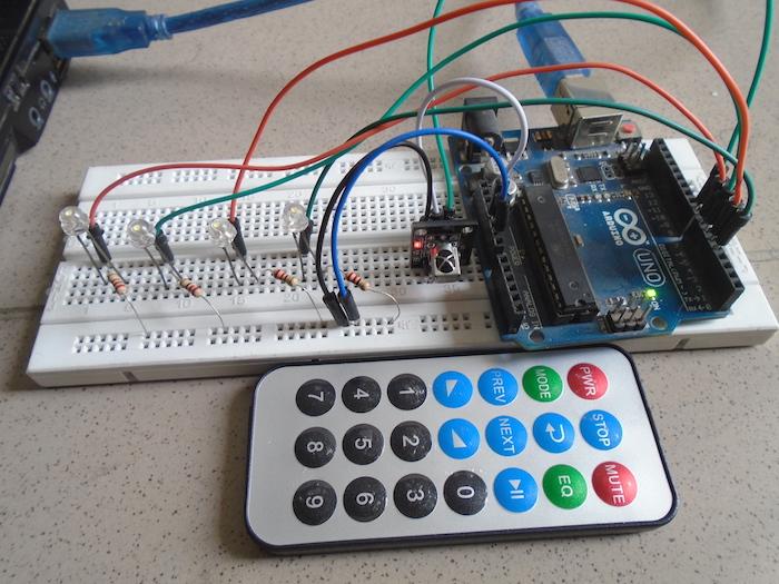 How to control leds with an arduino and ir sensor